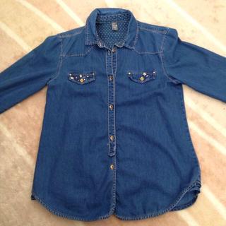 ザラキッズ(ZARA KIDS)のスタッズ付きシャツ(シャツ/ブラウス(長袖/七分))