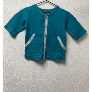 スタジオミニ(STUDIO MINI)の子供服 七分袖 前開き Tシャツ カーディガン(Tシャツ)