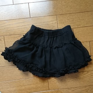 サンカンシオン(3can4on)の黒フリルスカート 3can4on 100cm (スカート)
