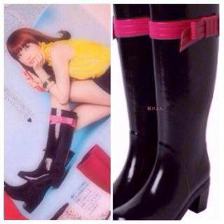 ケイトスペードニューヨーク(kate spade new york)の♡リボンレインブーツ♡(レインブーツ/長靴)