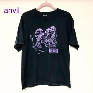 アンビル(Anvil)のanvil Tシャツ レディース メンズ 黒 半袖 トップス 最安値 ブランド(Tシャツ/カットソー(半袖/袖なし))