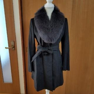 スーツカンパニー(THE SUIT COMPANY)の値下げ 美品 スーツカンパニー ファー付きコート(ロングコート)