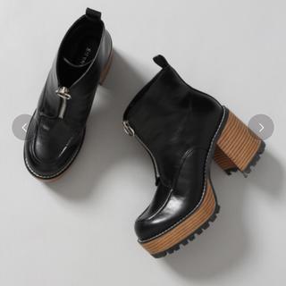 ジーナシス(JEANASIS)のジップデザインヒールブーツ(ブーツ)