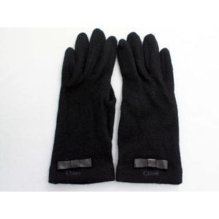 クロエ(Chloe)のクロエ レディース手袋 ニット ブラック(手袋)