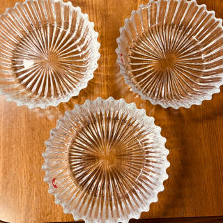 ガラス皿 3皿セット 佐々木ガラス 佐々木クリスタル