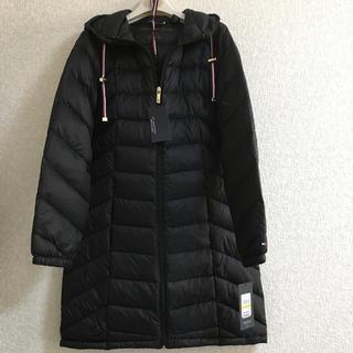 トミーヒルフィガー(TOMMY HILFIGER)のトミーヒルフィガー ダウンコート 巾着付き ブラックS(ダウンコート)