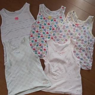 シマムラ(しまむら)の女の子 120 タンクトップ 肌着 まとめ売り(下着)