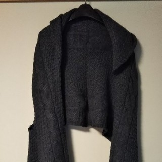 ムジルシリョウヒン(MUJI (無印良品))の美品❤️無印良品 ニットベスト❤️フード付き(ニット/セーター)