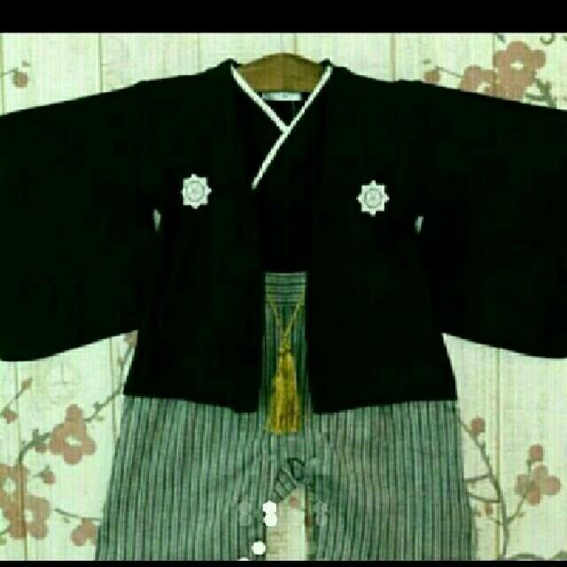 羽織袴風ロンパース 60,70,80,90 キッズ/ベビー/マタニティのベビー服(~85cm)(和服/着物)の商品写真