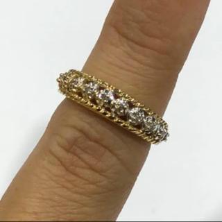 K18 ダイヤモンド 透かし リング (リング(指輪))
