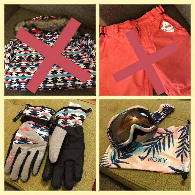Roxy(ロキシー)のスノボウェア セット スポーツ/アウトドアのスノーボード(ウエア/装備)の商品写真