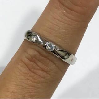 K18WG ダイヤモンド リング 0.10ct(リング(指輪))