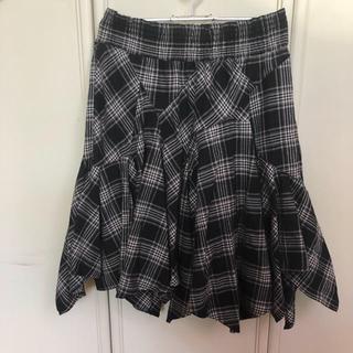 エーティー(A.T)のA.T  ウールチェック  ギャザースカート(ひざ丈スカート)
