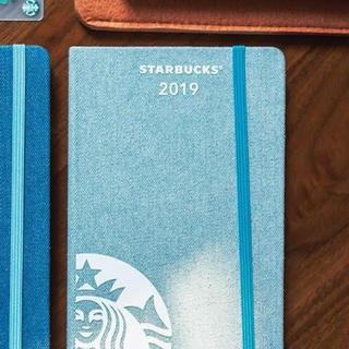スターバックスコーヒー(Starbucks Coffee)の海外スタバ&モレスキン♡2019手帳/プランナー(水色デニム)シンガポール限定(カレンダー/スケジュール)