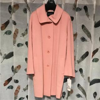 ハナエモリ(HANAE MORI)のモリ ハナエ スポーツ ロングコート 38 ピンク 新品(ロングコート)