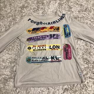 ラフ(rough)の【rough】ラゲージタグのアップリケ付き長袖Tシャツ(Tシャツ(長袖/七分))