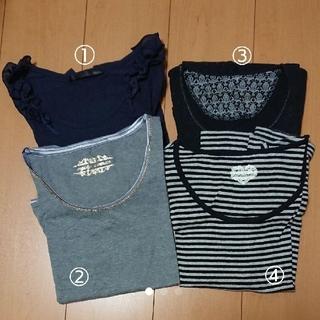 ミスティウーマン(mysty woman)の長袖カットソー 4枚セット(カットソー(長袖/七分))