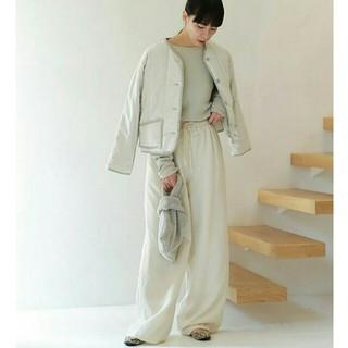 トゥデイフル(TODAYFUL)の【美品】定価¥21600 TODAYFULキルティングコンパクトブルゾン春羽織り(ミリタリージャケット)