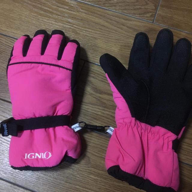 キッズ スキー グローブ 雪用 手袋 150㎝ スポーツ/アウトドアのスノーボード(ウエア/装備)の商品写真