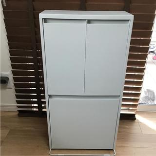 ムジルシリョウヒン(MUJI (無印良品))の無印良品 重ねて増やせるダストボックス 廃盤 ゴミ箱(ごみ箱)