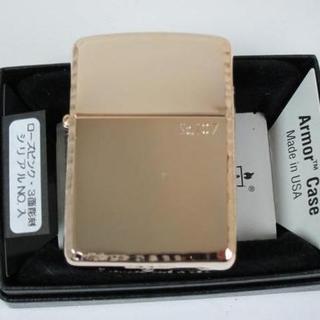 ジッポー(ZIPPO)の限定 Zippo アーマー/サイド彫刻(3面唐草)162RPK ゴールド(タバコグッズ)