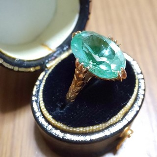 K18  ミントグリーンスピネル 王冠透かしリング(リング(指輪))