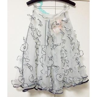 ミキオサカベ(MIKIO SAKABE)のmikio sakabe ハートオーガンジースカート(ひざ丈スカート)