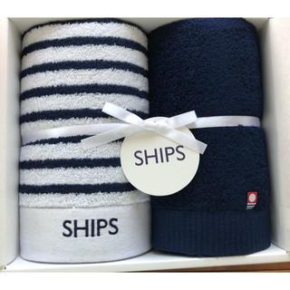 シップス(SHIPS)のSHIPS フェイスタオル 2枚(タオル/バス用品)