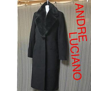 アンドレルチアーノ(ANDRE LUCIANO)のアンドレ フェイクファー ロングコート ブラック(ロングコート)