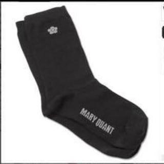 マリークワント(MARY QUANT)の【新品未タグ付き未開封】マリークワント💕ソックス 靴下 デイジー×ブラック(ソックス)