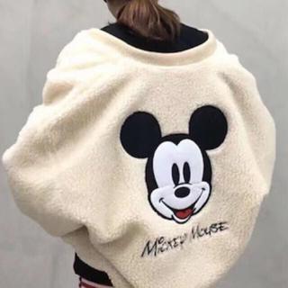 ディズニー(Disney)のミッキー♡ブルゾン♡ボア♡ディズニー♡アウター♡ジャケット♡コート(ブルゾン)