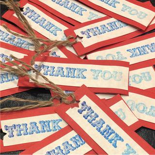 ☆ハンドメイド★ サンキューカード (レッド)白紙 タイプ  増量中35枚入り(カード/レター/ラッピング)