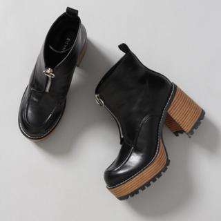 ジーナシス(JEANASIS)のJEANASIS ジーナシス  ジップデザインヒール ブーツ(ブーツ)