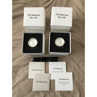 ムジルシリョウヒン(MUJI (無印良品))の輸入 ティッド 本革レザー 無印風 海外デザイナーズウォッチ ユニセックス  (腕時計)