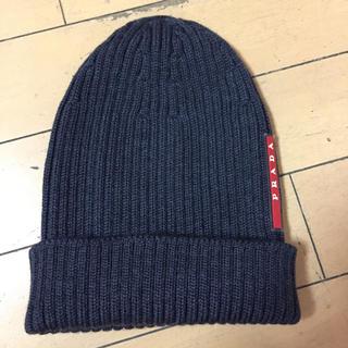 プラダ(PRADA)のプラダ ニット帽 新品(ニット帽/ビーニー)