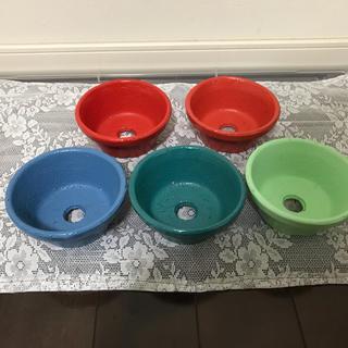 【送料込】陶器 4号 植木鉢 浅型 5個セット(プランター)