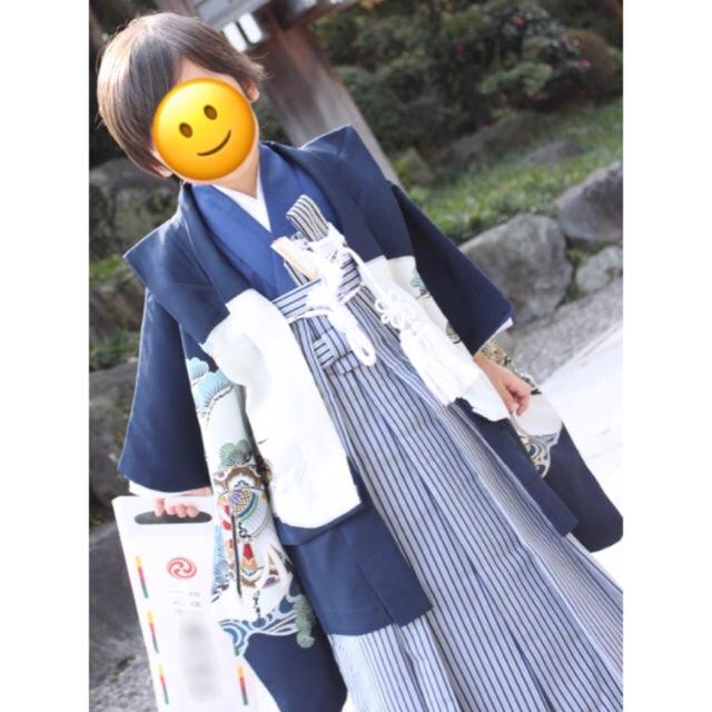 七五三 男の子 五歳 キッズ/ベビー/マタニティのキッズ服 男の子用(90cm~)(和服/着物)の商品写真