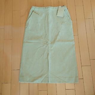 プラージュ(Plage)の新品☆ plage コーデュロイタイトスカート ベージュ34(ひざ丈スカート)