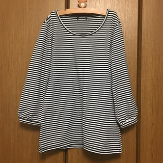ジーユー(GU)のGU ボーダー七分袖シャツ(Tシャツ(長袖/七分))