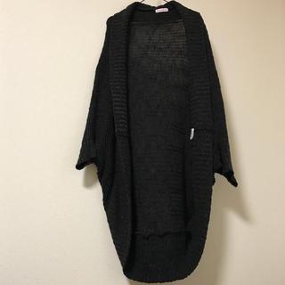 シマムラ(しまむら)のロングカーデ ニット ざっくり編みドルマン グレー(ボレロ)