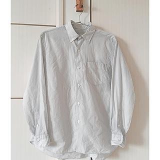 コモリ comoli コットン ストライプ レギュラーカラー シャツ