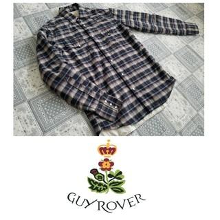 ギローバー(GUY ROVER)の【大人な一目惚れシャツ/美品】GUY ROVER  チェックダブルガーゼシャツ(シャツ)