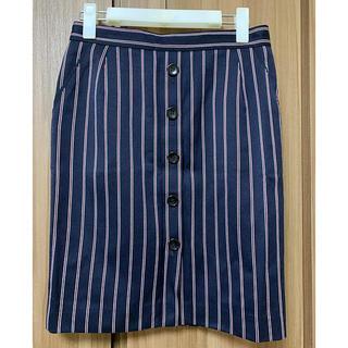 アンタイトル(UNTITLED)のUNTITLED ストライプタイトスカート(ひざ丈スカート)