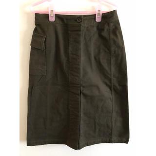 エーティー(A/T)のAT ボックススカート カーキ(ひざ丈スカート)