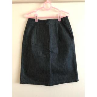 エーティー(A/T)のAT デニムボックススカート(ひざ丈スカート)