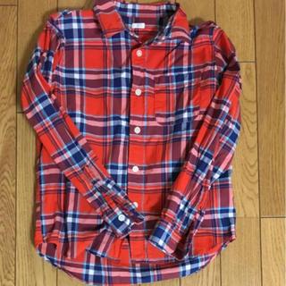 ジーユー(GU)のGU チェックシャツ 130cm(Tシャツ/カットソー)