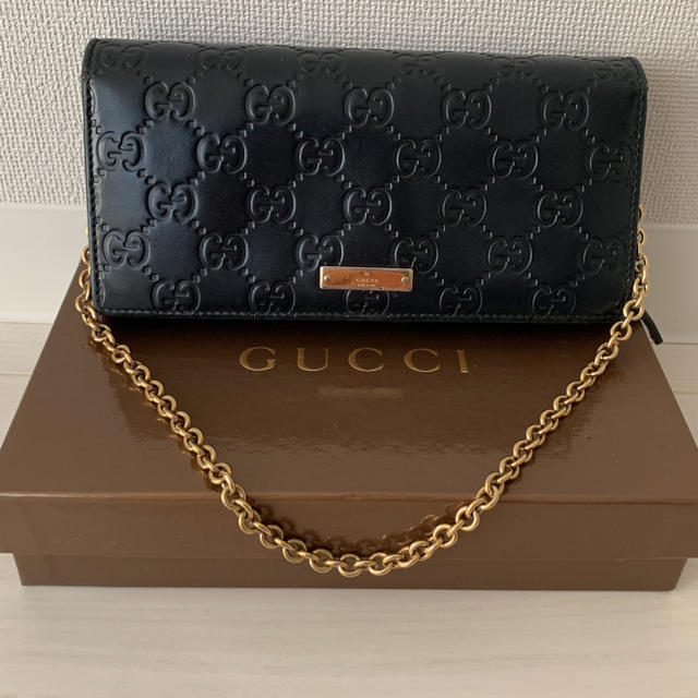 save off bb928 46584 GUCCI♡チェーンウォレット | フリマアプリ ラクマ