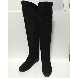 ダイアナ(DIANA)の美品 ダイアナ ロングブーツ 22レディース 黒 スエード(ブーツ)