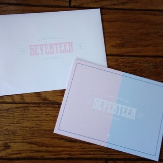 セブンティーン(SEVENTEEN)のSEVENTEEN シーグリ グリーティングカード(カード/レター/ラッピング)