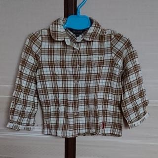 イーストボーイ(EASTBOY)の子供服 EASTBOY ブラウス チェック柄 女の子 シャツ(ブラウス)